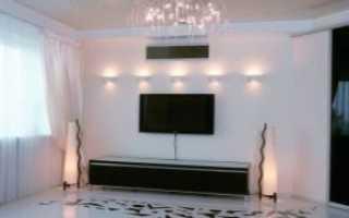 Белый глянец потолок