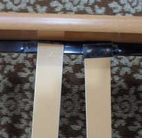 Как починить ламели кровати?