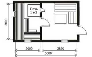 Планировка бани 3х4 мойка и парилка отдельно