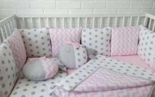 Борты в кроватку подушками своими руками