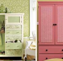Как оформить старый шкаф?