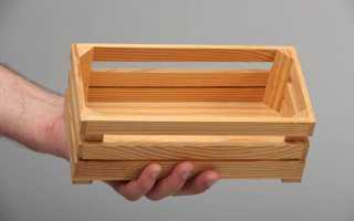 Ящик для овощей своими руками из дерева