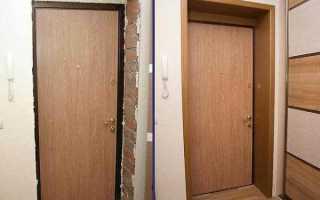 Как отделать откосы входной двери после установки