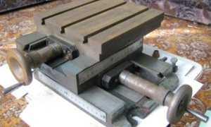 Самодельный координатный стол для сверлильного станка