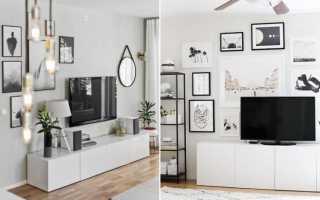 Декоративная стена под телевизор
