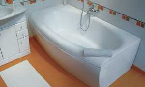 Как установить экран на акриловую ванну тритон