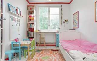 Идеи для детской комнаты маленького размера