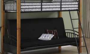 Двухъярусная кровать с диваном внизу для родителей