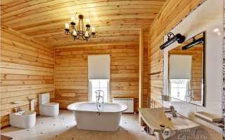 Гидроизоляция в ванной комнате в деревянном доме
