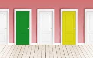 Каким цветом должны быть межкомнатные двери