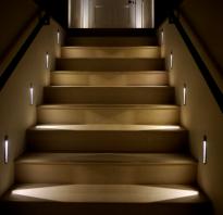 Лестница освещение фото