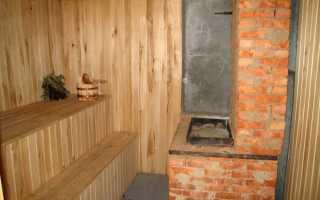 Каменная печь для бани на дровах