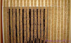 Макраме для начинающих схемы плетения штор