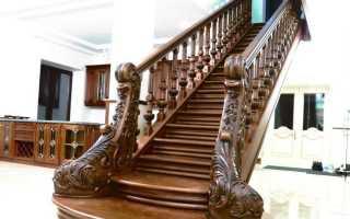 Лестница с перилами из дерева своими руками