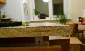Как заделать трещину на столешнице из ДСП?