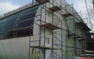 Крепление вентилируемого фасада