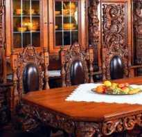 Эскизы резной мебели
