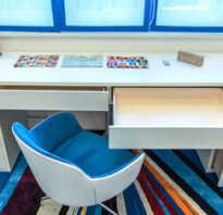 Детская комната встроенный стол у окна