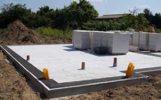 Как выбрать фундамент для дома из газобетона