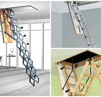 Лестница на чердак монтаж