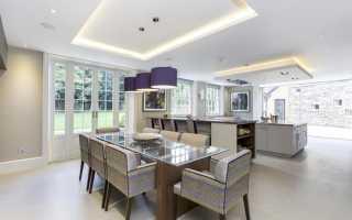 Натяжные потолки с гипсокартоном фото для кухни
