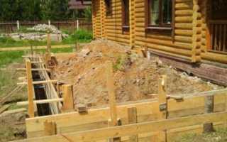 Как заливать фундамент для пристройки к дому