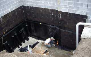 Гидроизоляция вертикальных стен фундамента